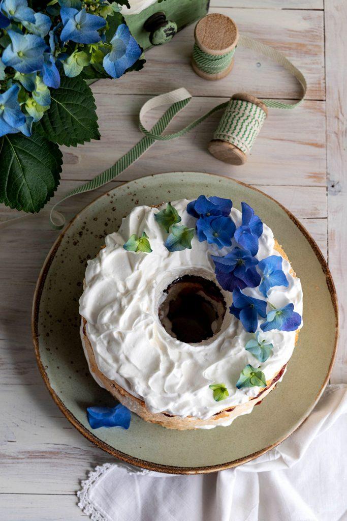Angel cake con farina di riso
