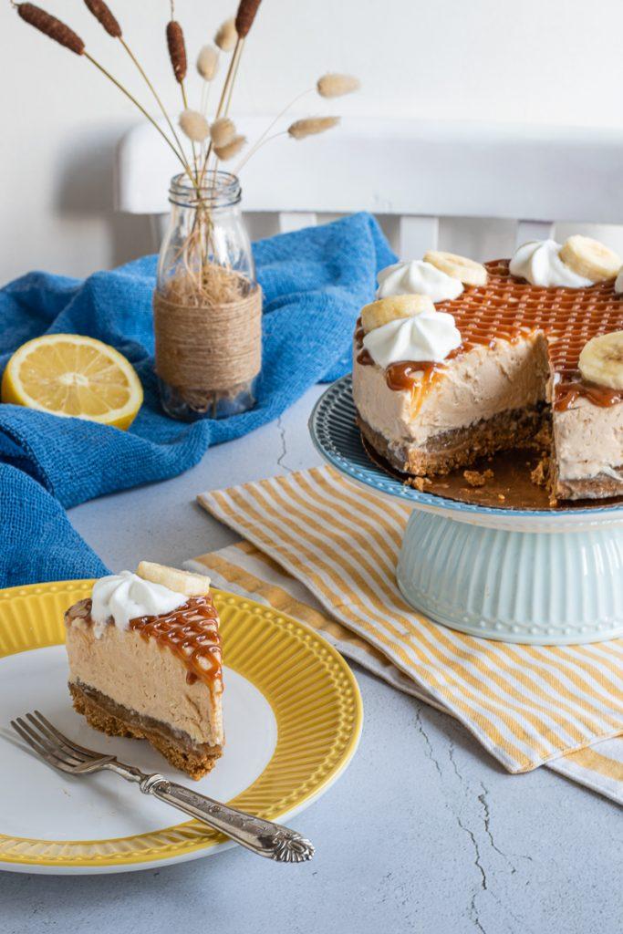 cheesecake banana e dulce de leche