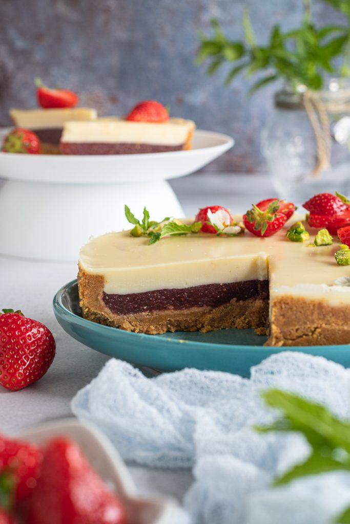 dolce senza cottura al cioccolato e fragole