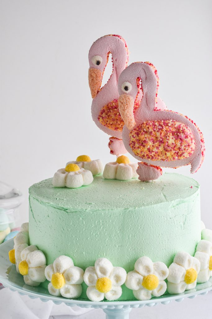 torta con fenicotteri